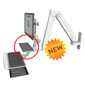 Elite Double Arm with WorkSurface Tray